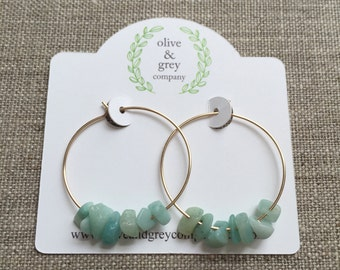 Earrings, Hoop Earrings, Beaded Earrings, Gifts for her