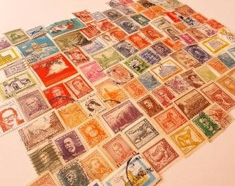 100 Vintage and old Postage Stamps from South America  - All Different