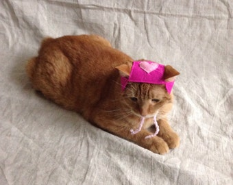 The Valentine Cat Hat