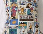 Gardener's Delight 16 x 16 Pillow Cover - Garden Themed Pillow Sham -