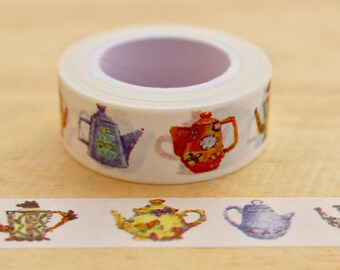 Teapot Washi tape masking tape, masking tape, decorative tape, scrapbooking