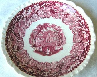 "Mason's Vista Pink Oversized Saucer 6 1/2"""