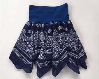 Navy Bandana Skirt