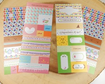 Fabric Stickers, Scrapbooking Stickers, Planner Decal