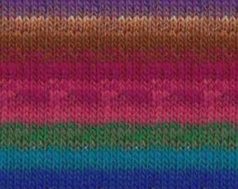 Noro Kureyon  #367  100% Wool Magenta, Royal, Brown