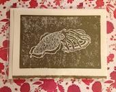 Golden Cuttlefish Card