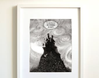 Wuthering Heights | Emily Brontë | Brontë | Bronte | quotes | bookworms | art quotes | gift for authors | black and white prints |