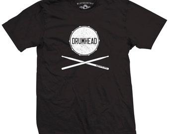 Drumhead Drummer T-Shirt - Classic Heavy Cotton
