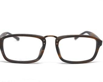 SALE! Acetate Glasses Wood Grain Eyeglass Frames Prescription Glasses Vintage Retro Handmade Wood Eyeglasses Holzbrille Eco Eyewear