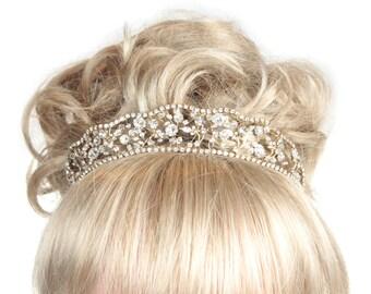 Wedding Tiara, Bridal Tiara, Brides Tiara, Wedding Headdress, Gold Tiara