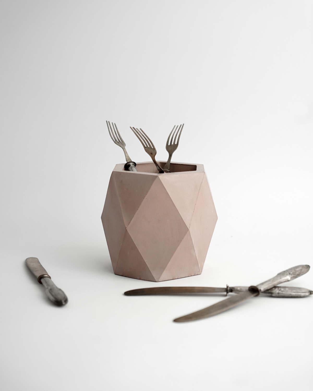 A Celebration Of Concrete: Geometric Concrete Vase - Planter - Pot