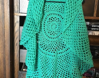 Turquoise circle vest