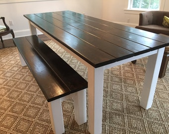 Modern Dark Walnut Farm Table - Up To 8' Length
