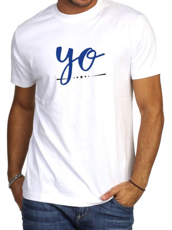Round neck men short sleeve t-shirt YO