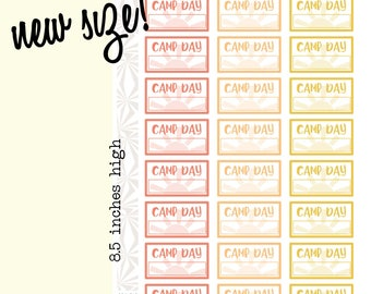 Summer Camp Planner Stickers | Summer Camp Daily Planner Stickers (#196)