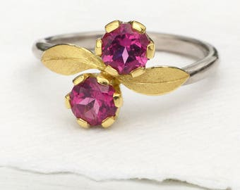 Size L 1/2 (US 6)  Pink Tourmaline Ring in Moi et Toi Design | Eco Friendly 18k Gold