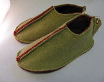Handmade Felted Slippers - made from upcycled sweaters