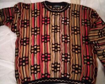 Tundra Men's Sweater size Large-Black-Tan