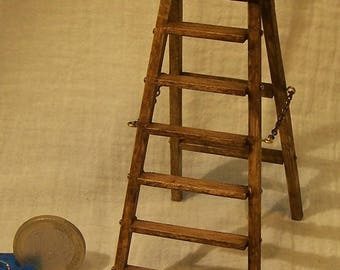 Miniature articuled step ladder 10éme and 12ème