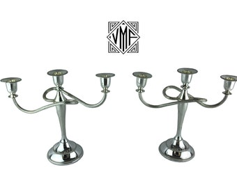 Excellent English silver plated candelabra pair, set of 2 vintage silverplate candleabras, excellent condition wedding holiday gift
