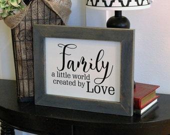 Real Wood Handmade Family Sign