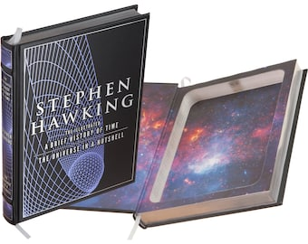 Hollow Book Safe - Stephen Hawking - A Brief History of Time - The Universe in a Nutshell (Leather-bound) (Magnetic Closure)