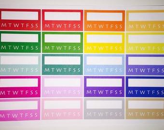 Multi-color Habit Tracker Planner Stickers