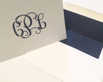 Personalized, monogrammed notecards **Set of 20**
