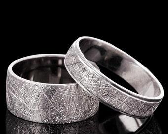 Unique Gold Wedding Bands, 14K White Gold Wedding Bands, White Gold Unique Wedding Rings, Zehava Jewelry
