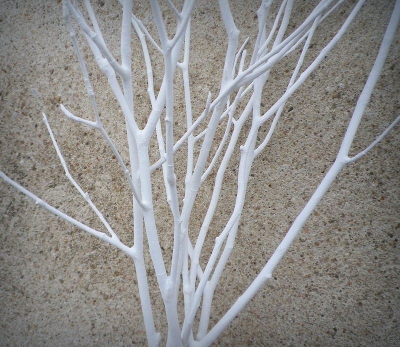 Wedding Centerpiece 6 White Tree Branches Decorative