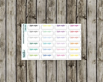091 Fight Night Labels // Matte Repositionable Stickers // Any Planner // EC Palette