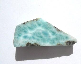 Raw Larimar Slabs Atlantis Stone Larimar Blue Pectolite 6.3 g Rough Gemstone Healing Crystals and Stones
