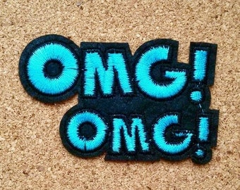 OMG Iron on Patch - OMG Patch Emoji Iron on Patches OMG Applique Embroidered Patch Sew On Patch, Best Gift