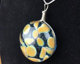 Sparkly Blue Glass Pendant