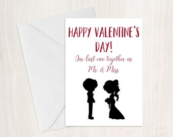 personalised new wife husband valentines card fiance card valentines day gift engagement