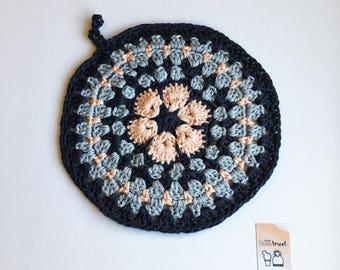 -Pot holder - crocheted trivet crochet Potholder