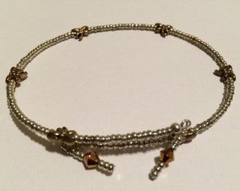 Boho Anklets, Silver Anklet, Flower anklet, Dragonfly Anklet, beaded Anklets, Ladybug Anklet, Gold Silver Anklet, Body jewelry, SALE