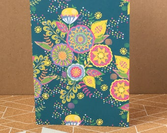 Colourful - Flowers - Greeting Card-Fun-Cheerful