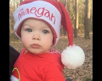 Personalized Christmas Hat, Santa Hat, Embroidered Santa Hat