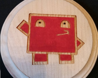 Super Meat Boy Wooden Wall Hanger