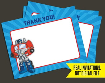 Transformers Thank You Cards - Transformers Rescue Bots Thank You Card