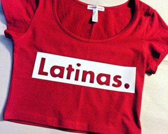 Latinas. Long Sleeve Crop Top