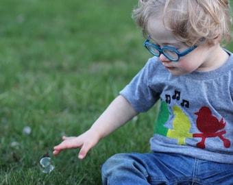 Rasta three little birds baby toddler tshirt, shirt, rasta reggae clothing,music t shirts, GREY TEE