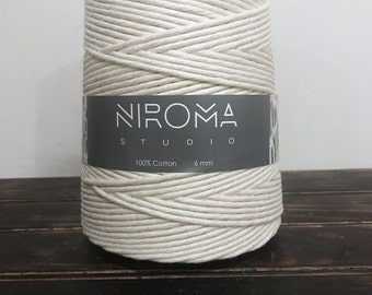 6mm Thick Cotton string, macrame string, bulk cord, macrame cord, craft string, macrame, cotton string, natural cotton