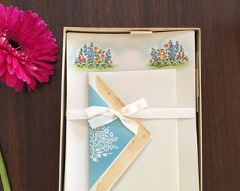 Flower garden writing paper/vintage stationary/notes