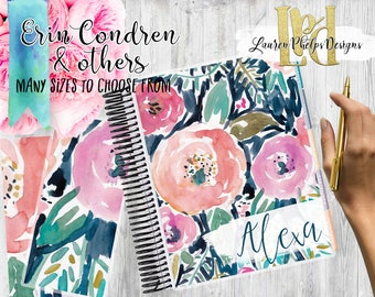 Planner Cover | Laminated 10mil | for use with | Erin Condren | Happy Planner | Summer | Watercolor | Floral | 123