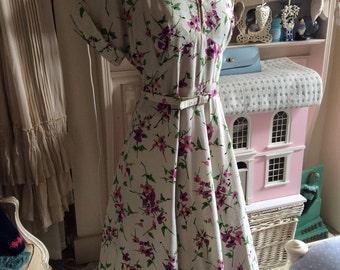 1940s linen day dress