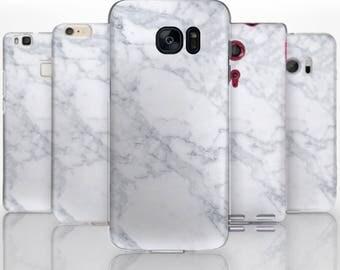 BG0088 Plastic hard case print, personalized/ custom/ personalised phone protective case marble white