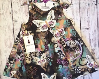 Gorgeous 12 month girls butterfly dress