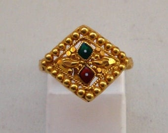 vintage antique tribal old 20k gold ring handmade jewelry rajasthan india